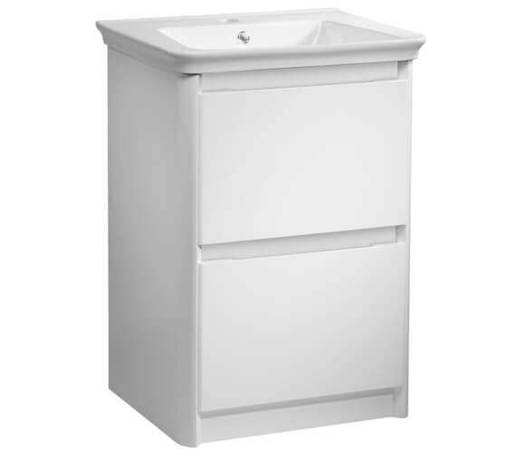 Tavistock Equate Gloss White 600mm Wide Freestanding Vanity