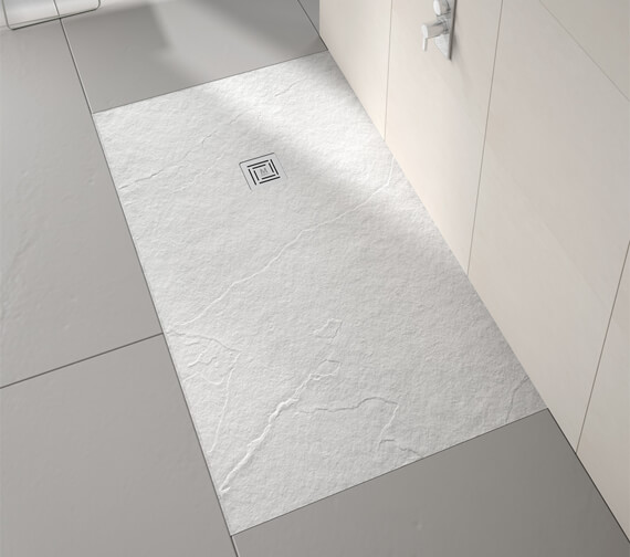 Alternate image of Merlyn TrueStone Rectangular 30mm Height Shower Tray With Waste