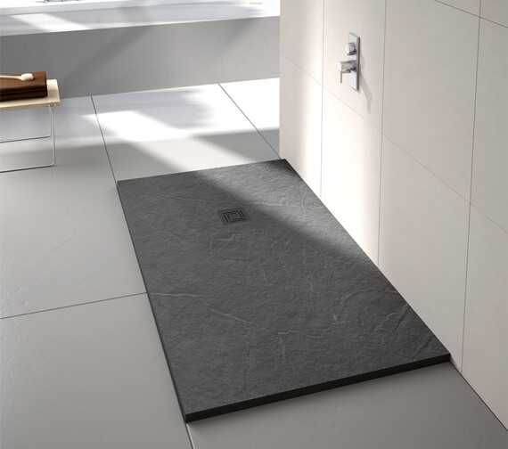 Additional image of Merlyn TrueStone Rectangular 30mm Height Shower Tray With Waste