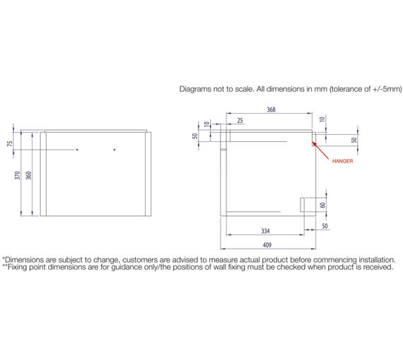 Technical drawing QS-V16522 / CM500WW