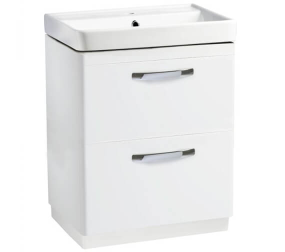 Tavistock Compass 600mm 2-Drawer Floor Standing Vanity Unit With Basin