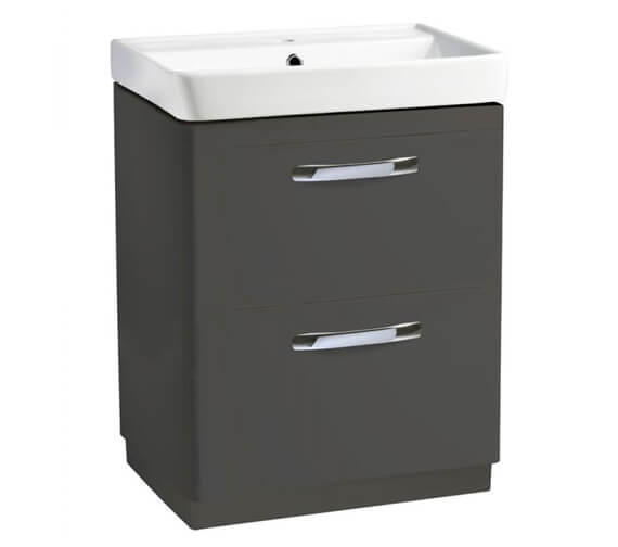 Additional image of Tavistock Compass 600mm 2-Drawer Floor Standing Vanity Unit With Basin