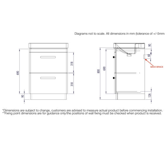 Technical drawing QS-V99537 / CM600FDW