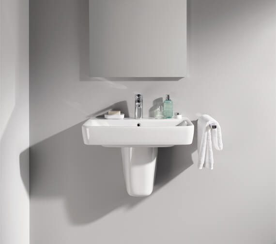 Twyford E200 600 mm Basin With 1 Tap Hole