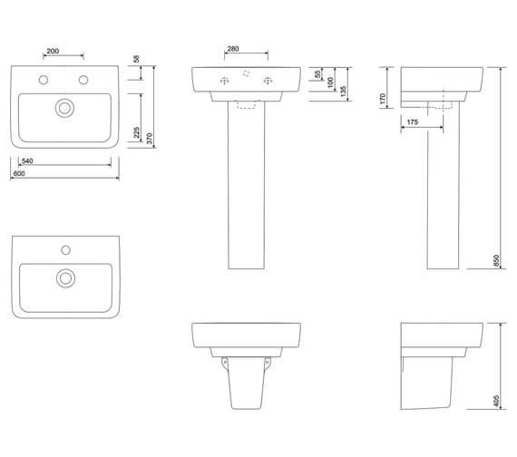 Technical drawing QS-V10240 / E24311WH