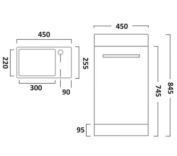 Technical drawing QS-V55192 / KWM45W