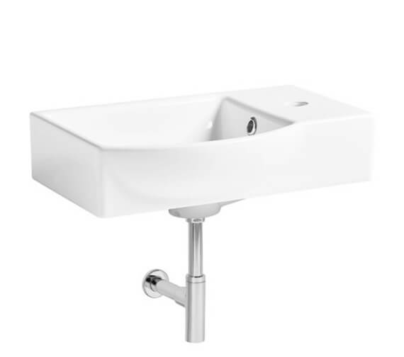 Tavistock Blend Compact Wall Hung Basin 450mm With 1 Right Hand Tap Hole
