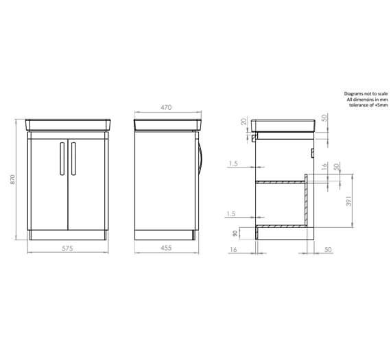 Technical drawing QS-V83918 / CM500FW