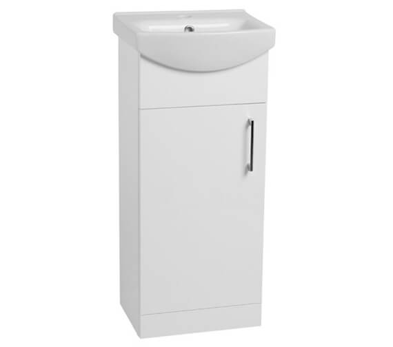 Tavistock Opal 400mm Gloss White Freestanding Single Door Unit With Ceramic Basin