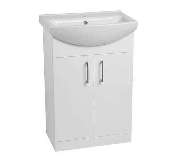 Alternate image of Tavistock Opal Freestanding Gloss White Unit With Basin 500mm Wide