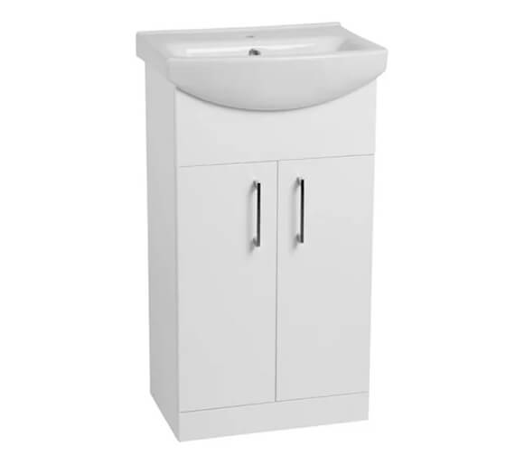 Tavistock Opal Freestanding Gloss White Unit With Basin 500mm Wide