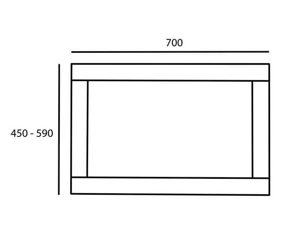 Technical drawing QS-V99540 / LANP2.LW