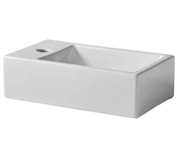 Tavistock Matrix Wall Hung 370mm Wide Basin With 1 Left Handed Tap Hole
