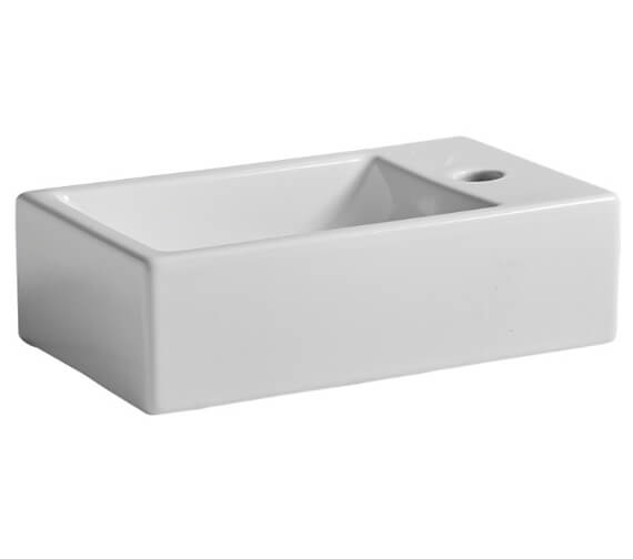 Additional image of Tavistock Matrix Wall Hung 370mm Wide Basin With 1 Left Handed Tap Hole