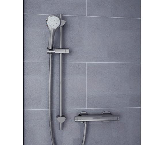 Bristan Artisan Thermostatic Bar Shower Valve With Handset