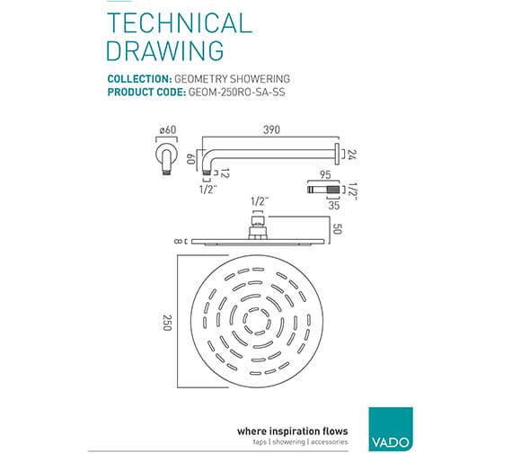 Technical drawing QS-V95340 / GEOM-250RO-SA-SS