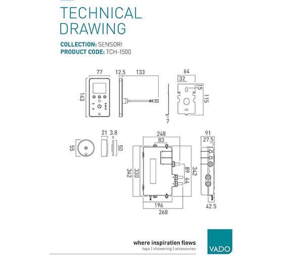 Technical drawing QS-V95349 / TCH-1000