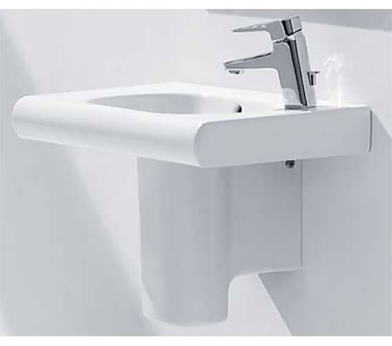 Additional image of Roca Meridian-N Compact Wall Hung Basin With 1 Right-Hand Taphole