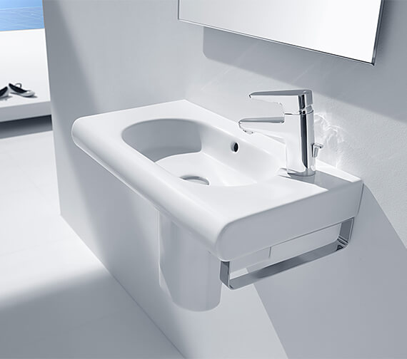 Roca Meridian-N Compact Wall Hung Basin With 1 Right-Hand Taphole