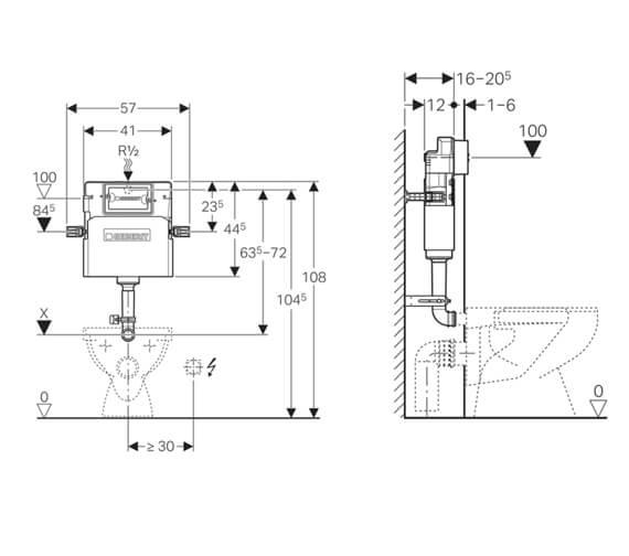 Technical drawing QS-V94551 / 109.105.00.1