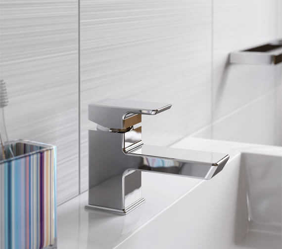 Bristan Cobalt Basin Mixer Tap With Clicker Waste