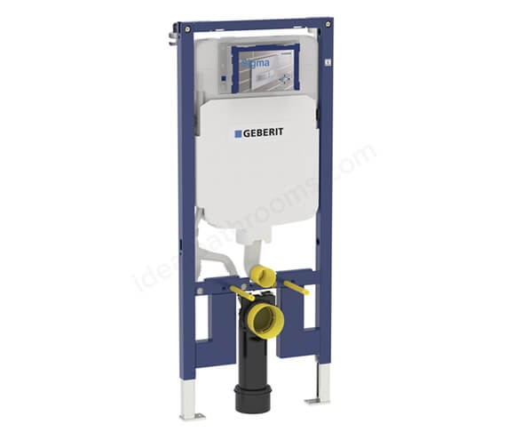 Geberit Duofix 1140mm High WC Frame With Sigma Concealed Cistern 8cm