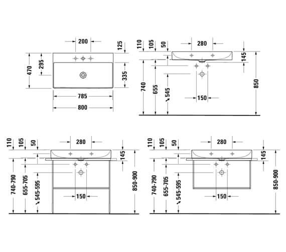 Technical drawing QS-V42475 / 2353800070