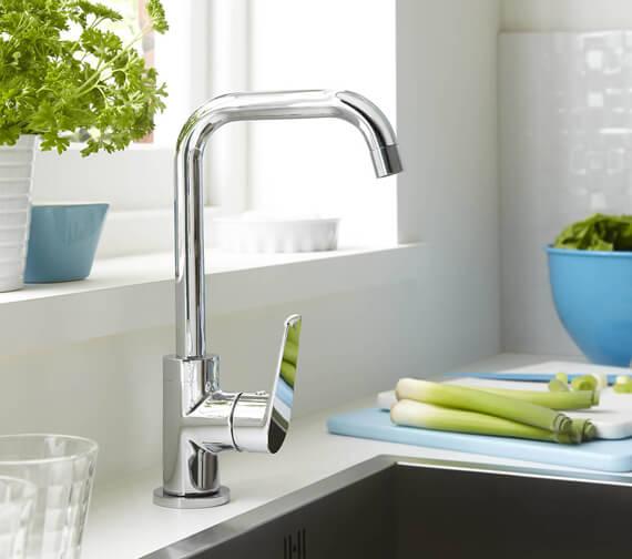 Bristan Blueberry Kitchen Sink Mixer Tap With Easyfit Base