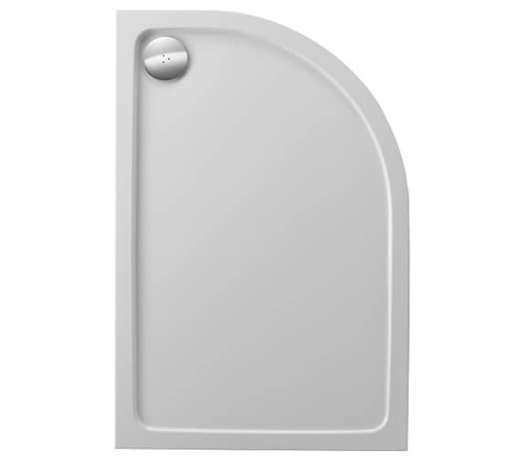 Just Trays JTFusion Right Hand Offset Quadrant Flat Top Shower Tray With Waste