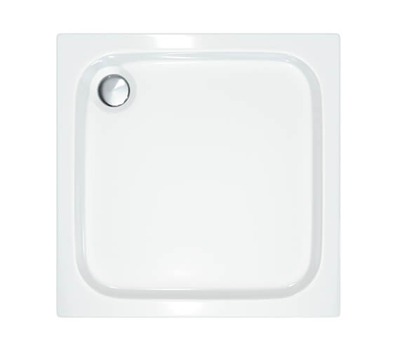Merlyn Ionic MStone 800 x 800mm Square Shower Tray With 90mm Fast Flow Waste