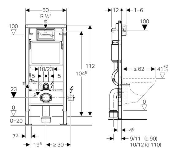 Technical drawing QS-V94580 / 458.118.21.1