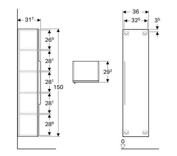 Technical drawing QS-V93709 / 840150000