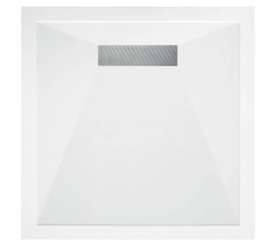 Saneux L25 Linear 900 x 900mm Square Shower Tray With Waste - L250909S