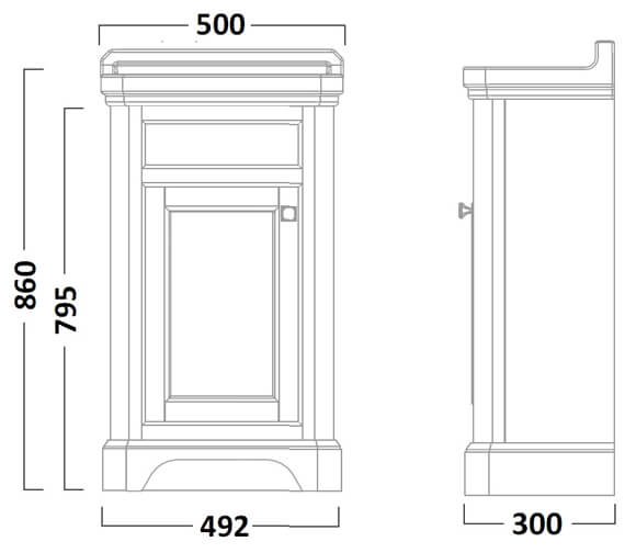 Technical drawing QS-V16791 / VT50FLW