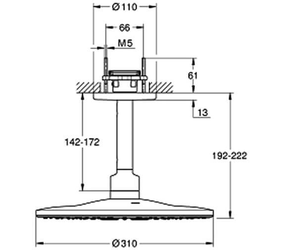 Technical drawing QS-V80915 / 26477000