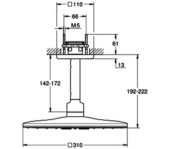 Technical drawing QS-V80916 / 26481000