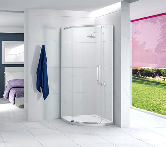 Merlyn Ionic Essence 900 x 900mm 1 Door Quadrant Left Hand