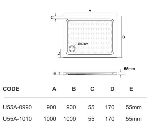 Technical drawing QS-V95412 / U55A-0990
