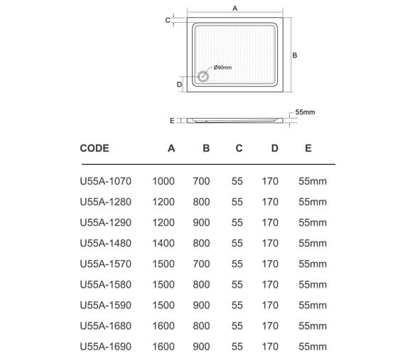 Technical drawing QS-V95413 / U55A-1070