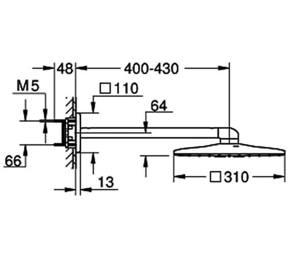 Technical drawing QS-V80602 / 26479000