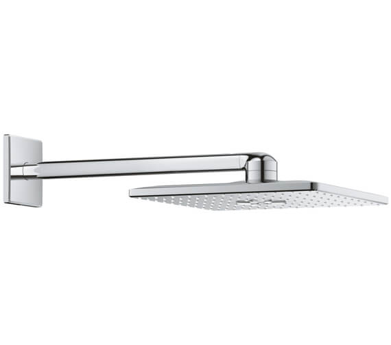 Grohe Rainshower 310mm SmartActive Cube Shower Head With Arm