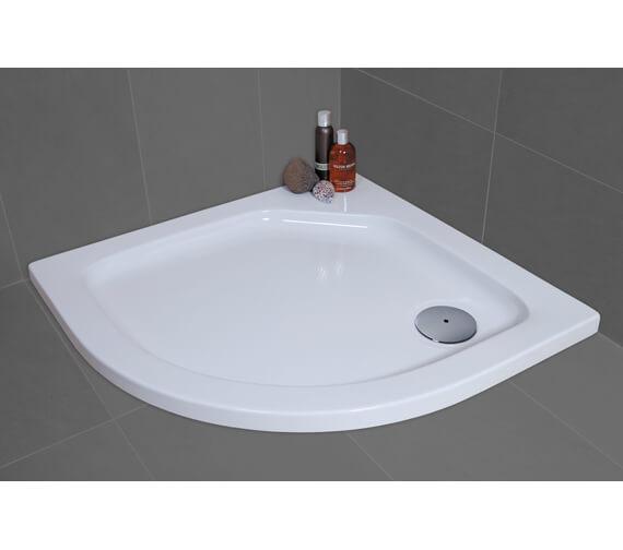 Additional image of Bathroom Origins Urban Low Profile Quadrant Shower Tray - Q35-88