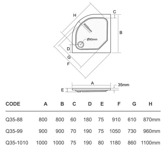 Technical drawing QS-V95409 / Q35-88