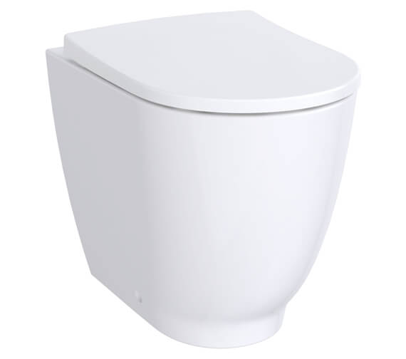 Geberit Acanto 350 x 425mm Rimless Back To Wall Floorstanding WC Pan