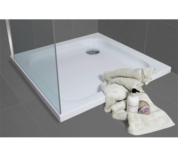 Additional image of Bathroom Origins Urban Low Profile Square Shower Tray - S35-8