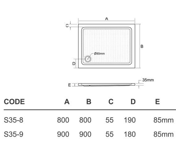 Technical drawing QS-V95410 / S35-8