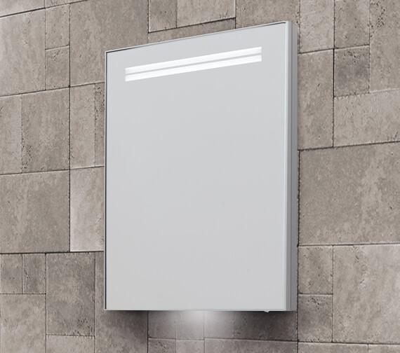 Bathroom Origins Space II 500 x 700mm Semi Recessed Single Door Mirror Cabinet