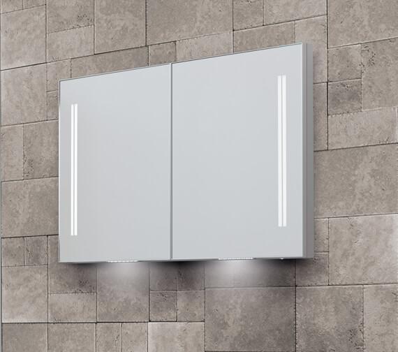 Bathroom Origins Space II 700mm Height Semi Recessed Double Door Mirror Cabinet