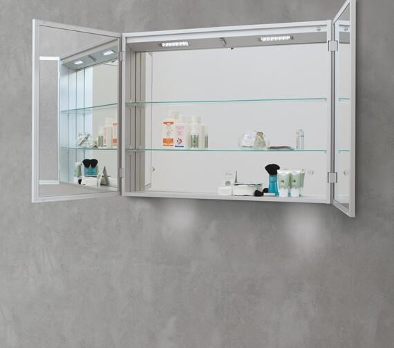 Additional image of Bathroom Origins Space II 700mm Height Semi Recessed Double Door Mirror Cabinet