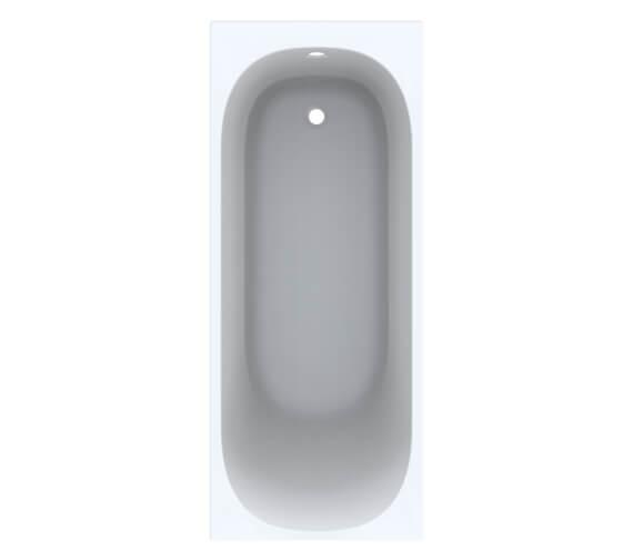 Geberit Acanto Single Ended Built In Rectangular Acrylic Bath With Feet